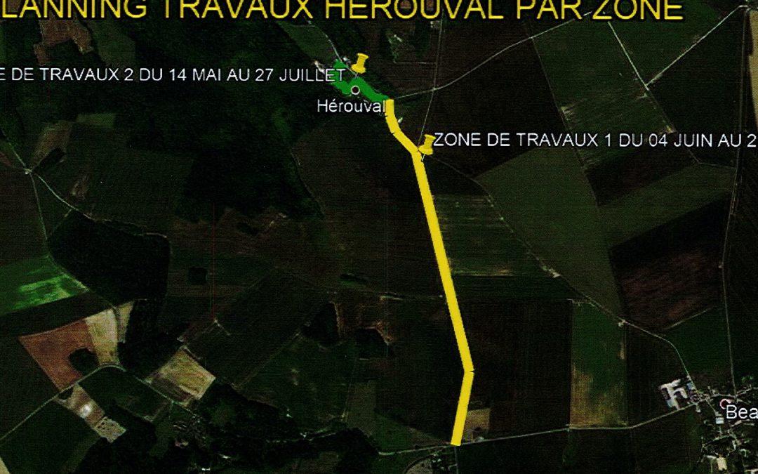 TRAVAUX ROUTE D'HÉROUVAL