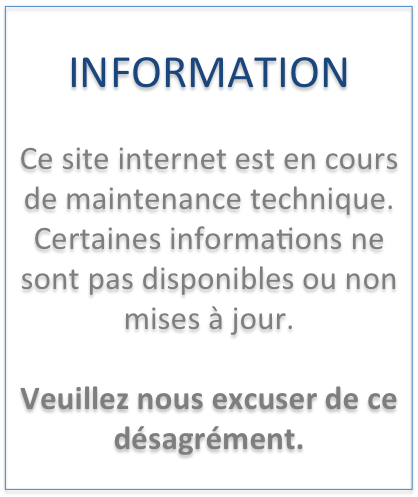 Maintenance du site