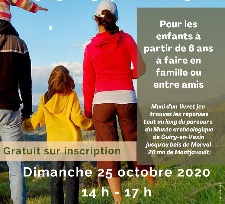 Jeu d'orientation – dimanche 25 octobre 2020