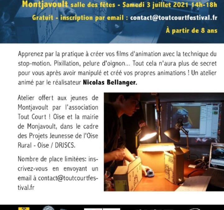 """Un nouvel atelier """"cinema"""" ce samedi 03 juillet à Montjavoult – inscriptions directement auprès de l'association. Places limitées."""