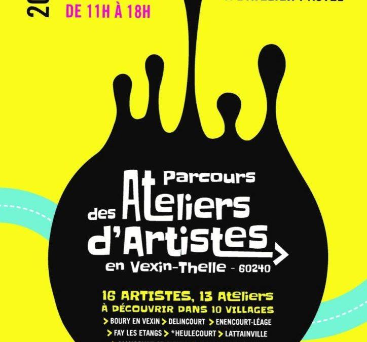 Parcours des Ateliers d'Artistes du 25-26 septembre et  2-3 octobre de 11h à 18h.